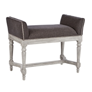 Aidan Gray Home Simon Stonewood Short Bench - Stonewood Gray & Storm