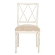 Aidan Gray Home Swedish Dining Chair - Antique Gray & Tectured Linen - Pair