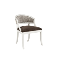 Aidan Gray Home Swedish Occasional Chair - Waxed White & Gray/White