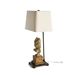 Aidan Gray Home Adia Table Lamp - Gold Leaf - Wood L248
