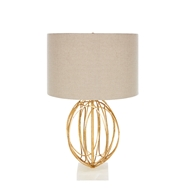Aidan Gray Home Allagash Table Lamp - Gold, Marble, Dark Linen - Pair