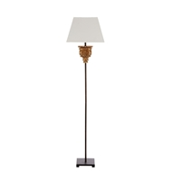 Aidan Gray Home Alton Buffet Lamp - antique gold with rusic m L878 BFT