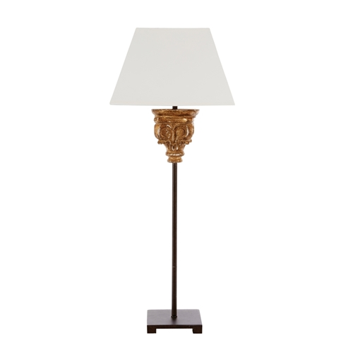 Aidan Gray Home Alton Table Lamp - antique gold with rusic m L878 TBL