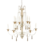 Aidan Gray Home Castleblonc Chandelier - Aged Antique Grey/Gesso