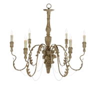 Aidan Gray Home Charlemagne Chandelier - Rustic Grey - Wood - Plantation Beech L13 CHAN