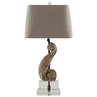 Aidan Gray Home Chloe Table Lamp - Aged Wood - Pair