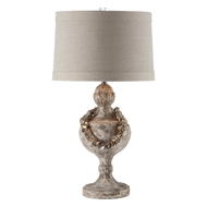 Aidan Gray Home Collier Table Lamp - Chipped Grey - Pair
