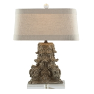 Aidan Gray Home Corinth Fragment Table Lamp - Metallic Brown - Cast Resin L92