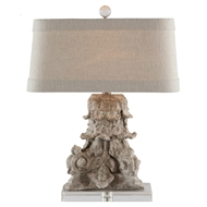 Aidan Gray Home Corinthian Fragment Table Lamp - Antiqued White - Pair