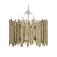Aidan Gray Home Crown & Glory White Barrel Chandelier	 - Distressed Whites With - Metal L861 CHAN WHT