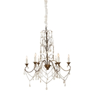 Aidan Gray Home Denbigh Castle Chandelier - Guilded Gold