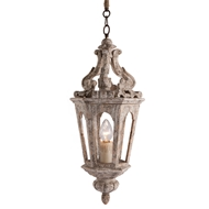 Aidan Gray Home Eda Pendant - Chipped White/Silver