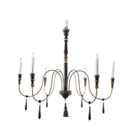 Aidan Gray Home Empire Large Black Chandelier - Black