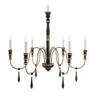 Aidan Gray Home Empire Medium Black Chandelier - Black