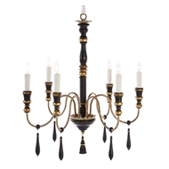Aidan Gray Home Empire Small Black Chandelier - Black