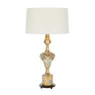 Aidan Gray Home Fergus Gold Table Lamp - Bright Gold Leaf On Gesso - Pair