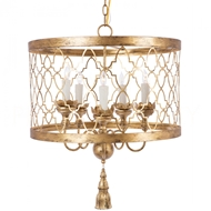 Aidan Gray Home Fiesole Gold Chandelier - Gold - Metal L448 GLD CHAN
