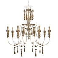 Aidan Gray Home Fitzs Chandelier - Distressed White/Gold L569 CHAN