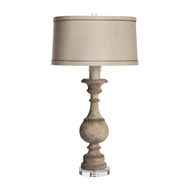 Aidan Gray Home Fosetta Table Lamp - Grayed Wood - Pair