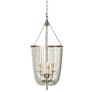 Aidan Gray Home Gailey White Pendant - Rustic White - Metal L582 CHAN WHT