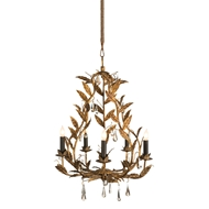 Aidan Gray Home Garden Chandelier - Antique Gold