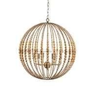 Aidan Gray Home Globe Gold Chandelier - Gold