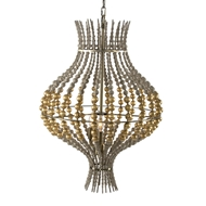 Aidan Gray Home Grand Onion Gold Chandelier - Antique Gold/Brown - Wood L832L CHAN GLD