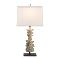 Aidan Gray Home Hestal Fragment Carved Table Lamp - Bleach Wood White - Pair