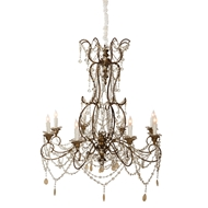 Aidan Gray Home JL Grace Chandelier - Guilded Gold/Copper