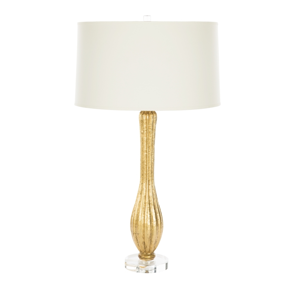 Aidan Gray Home Kissia Gold Table Lamp - WHITE SHADE STND - Resin L809 GOLD