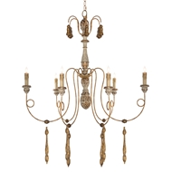 Aidan Gray Home Konstantin Chandelier - Rustic White/Gray/Gold