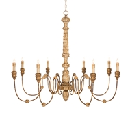 Aidan Gray Home Lena Rustic Gold Chandelier - Gold - Wood - Birch L565 G CHAN