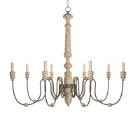 Aidan Gray Home Lena Rustic Chandelier - White