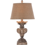 Aidan Gray Home Londra Table Lamp - Distressed White/Gold - Pair