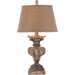 Aidan Gray Home Londra Table Lamp - Distressed White/Gold - Cast Resin L103