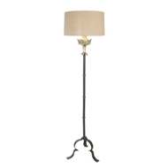Aidan Gray Home Marshal Silver Floor Lamp - Silver - Silver - Metal L449