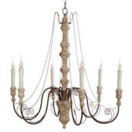 Aidan Gray Home Monceau Chandelier - Chipped Cathedral White