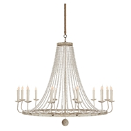 Aidan Gray Home Naples Large White Chandelier - Light Gray