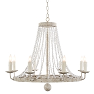 Aidan Gray Home Naples Small White Chandelier - White