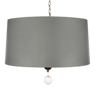 Aidan Gray Home Nolan Large Drum Pendant - Grey - Paper L711L PEN