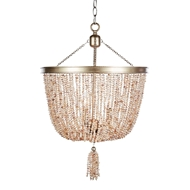 Aidan Gray Home Pink Pearl Chandelier - Chanpagne/Fresh Pearl - Freshwater Pearl BCL584 CHAN