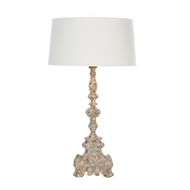 Aidan Gray Home Powell Table Lamp - Rustic Gray And Brown