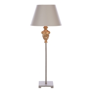 Aidan Gray Home Rosebud Table Lamp - Gold Leaf Wood Accent - Pair