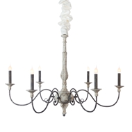 Aidan Gray Home Rosemary Chandelier - Rustic White & Zinc