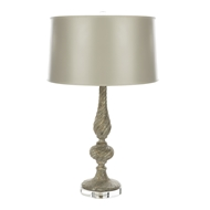 Aidan Gray Home Samuel Gray Table Lamp - Gray/Silver /Light Gray