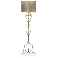 Aidan Gray Home Savona Floor Lamp - Aged Grey - Metal - Wrought Iron L65