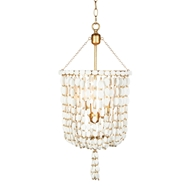Aidan Gray Home Sea Foam Pendant - Distressed White/Gold