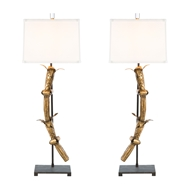 Aidan Gray Home Sheffield Lamp Set - Gold / Iron