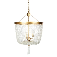 Aidan Gray Home Stone River Crystal Chandelier - Crystal And Gold