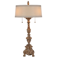 Aidan Gray Home The Grayson Gilded Lamp - Chipped Gold - Pair